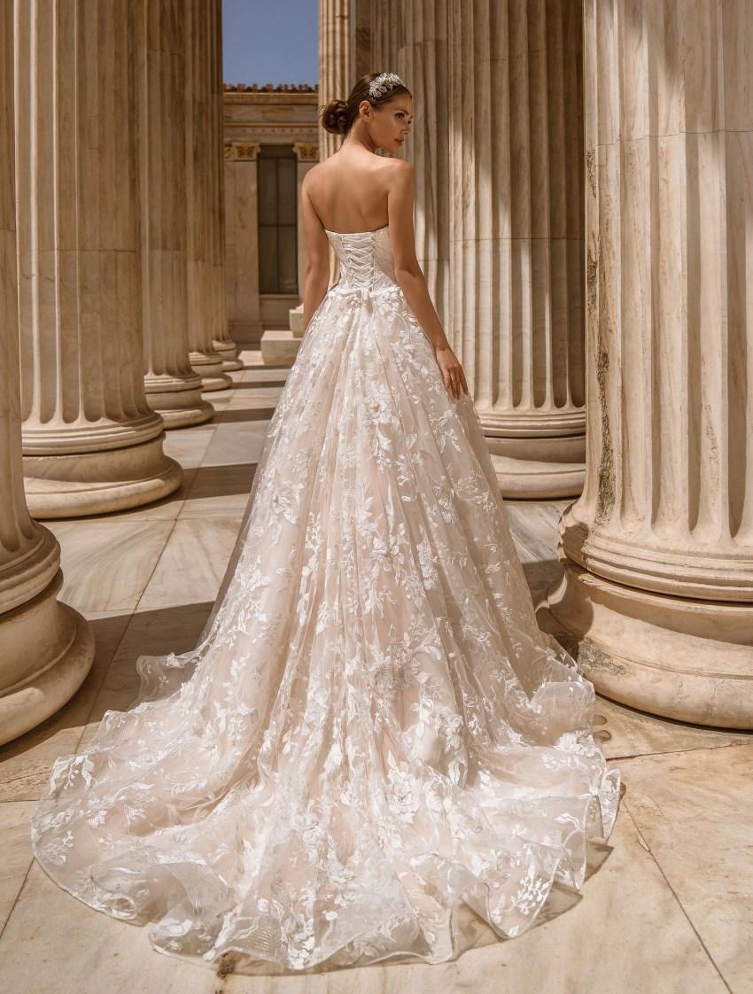 Свадебное платье с открытыми плечами от производителя Supernova оптом-7