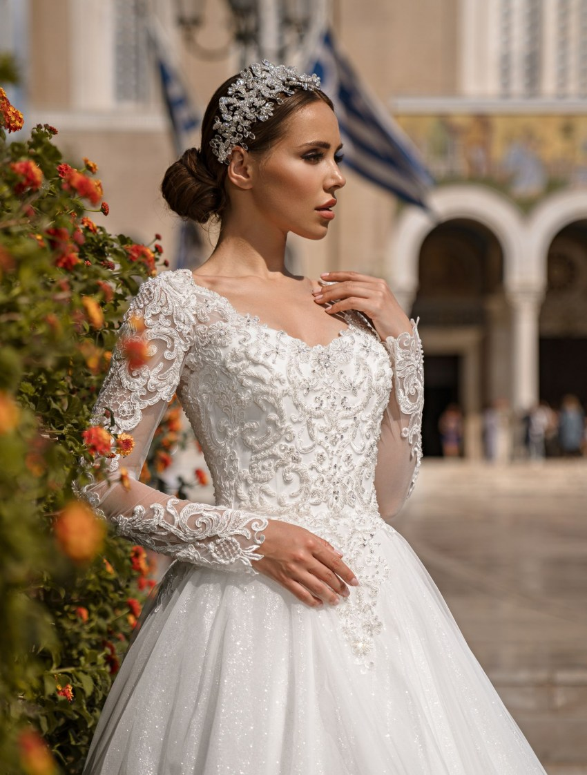 Wedding dress with long sleeves from Supernova wholesale-5