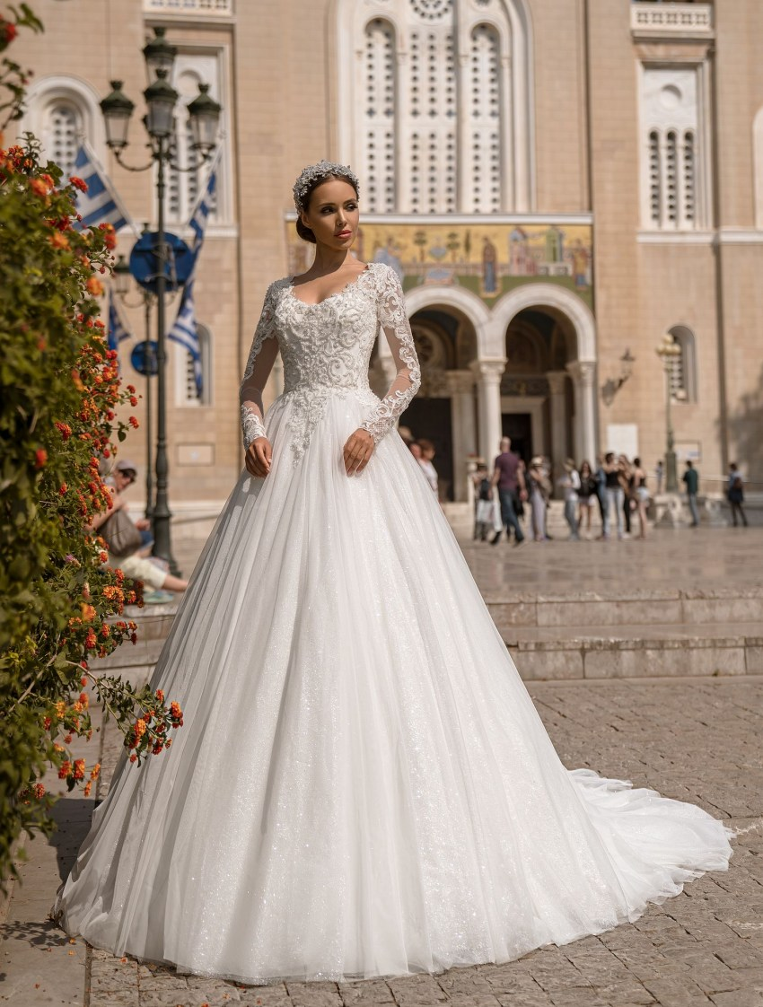 Wedding dress with long sleeves from Supernova wholesale-6
