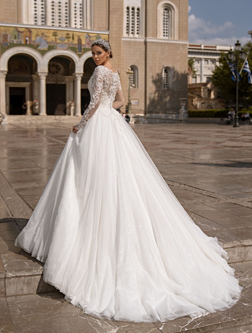 Wedding dress with long sleeves from Supernova wholesale-7