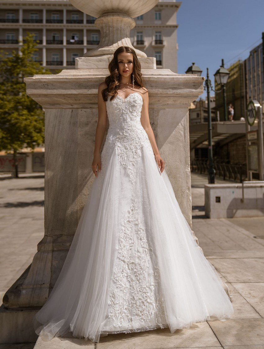 Wedding dress of classic «А» - silhouette with a train from TM Supernova wholesale-8