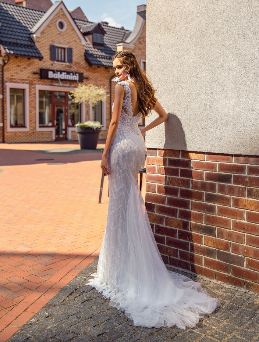 Wedding dress with beaded fringe wholesale from Supernova-6