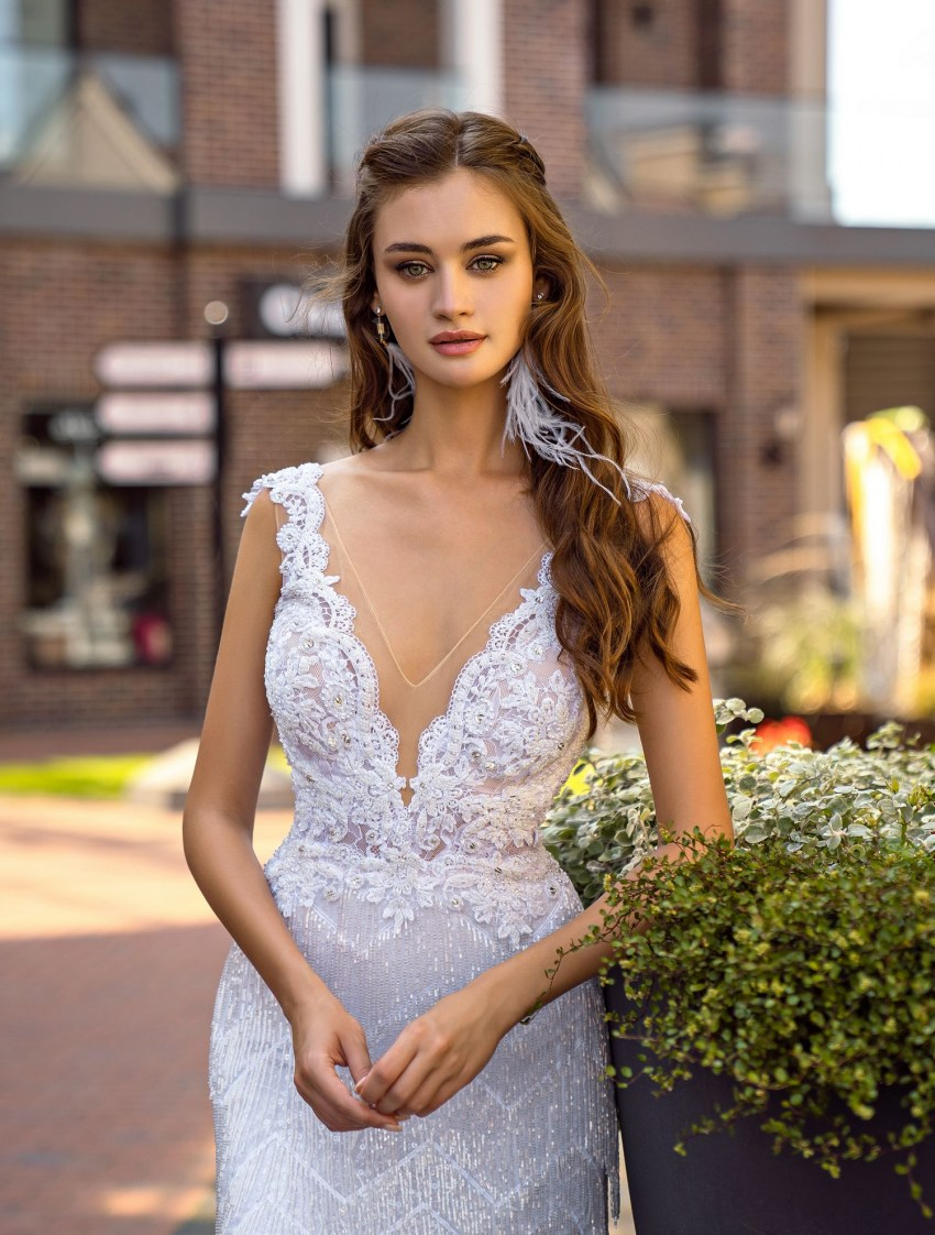 Wedding dress with beaded fringe wholesale from Supernova-7