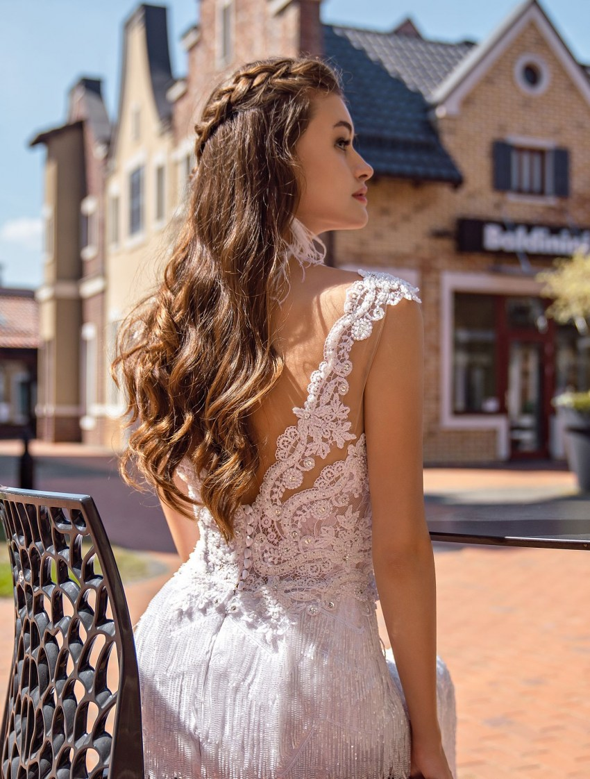 Wedding dress with beaded fringe wholesale from Supernova-8