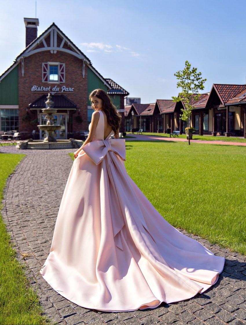 Весільна сукня з великим знімним бантом оптом від Supernova-6
