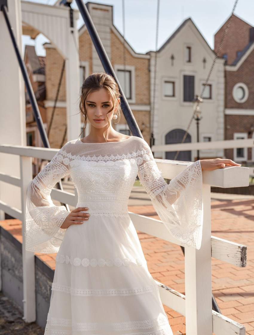 "Wedding dress ""boho"" with wide sleeves wholesale from Supernova-3"