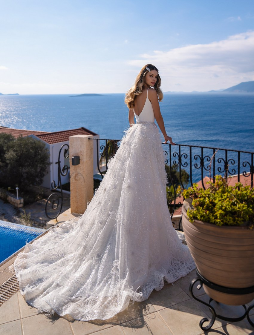 Wholesale strapless wedding dress from Supernova-7