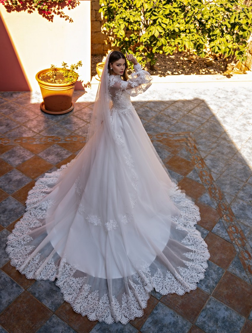 Wholesale wedding dress with long sleeves from Supernova-11