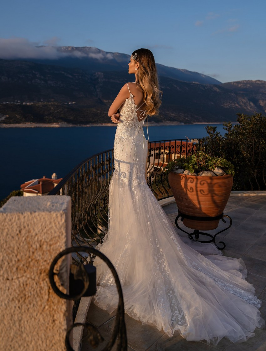 Wholesale wedding dress with detachable train from Supernova-7