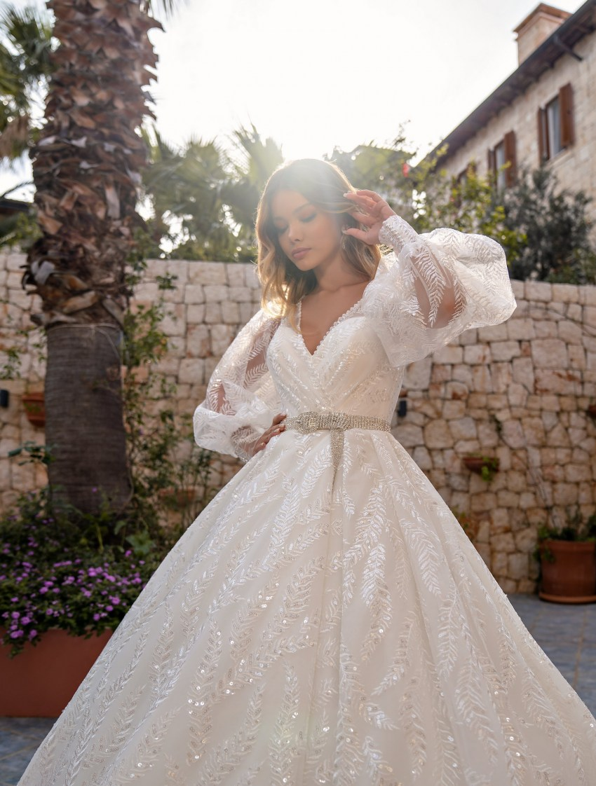 Wedding dress with a full skirt wholesale from Supernova-6
