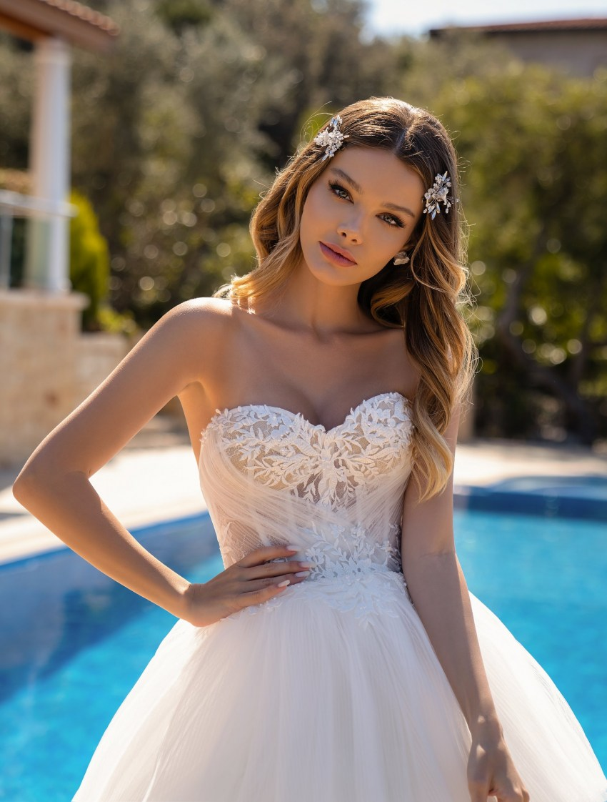 Весільна сукня з пишною спідницею оптом від Supernova-12