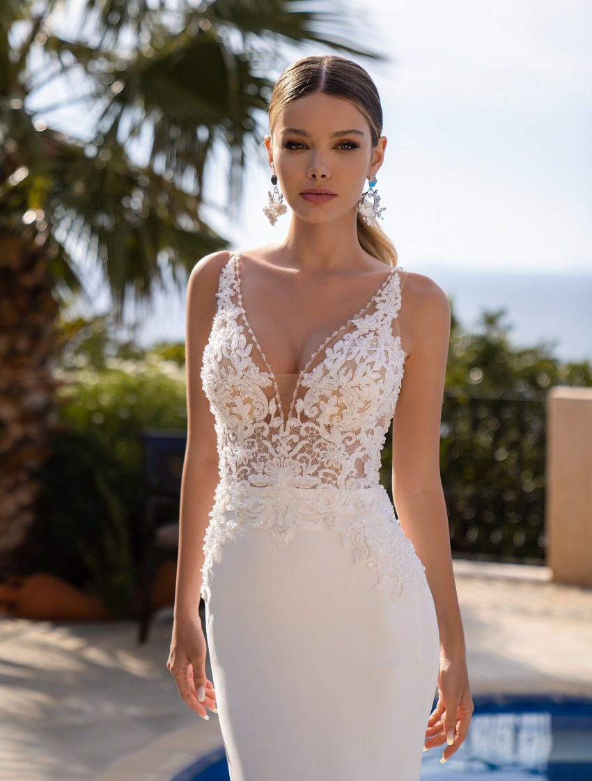 Wholesale strapless wedding dress from supernova-9