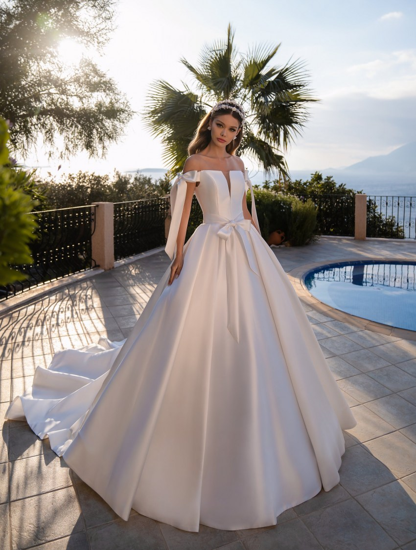 Wedding dress with a full skirt from Supernova-7