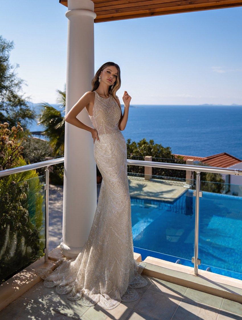 Mermaid silhouette wedding dress wholesale from Supernova-9