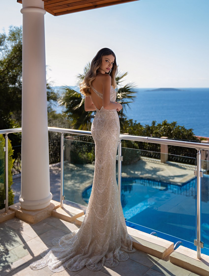 Mermaid silhouette wedding dress wholesale from Supernova-10