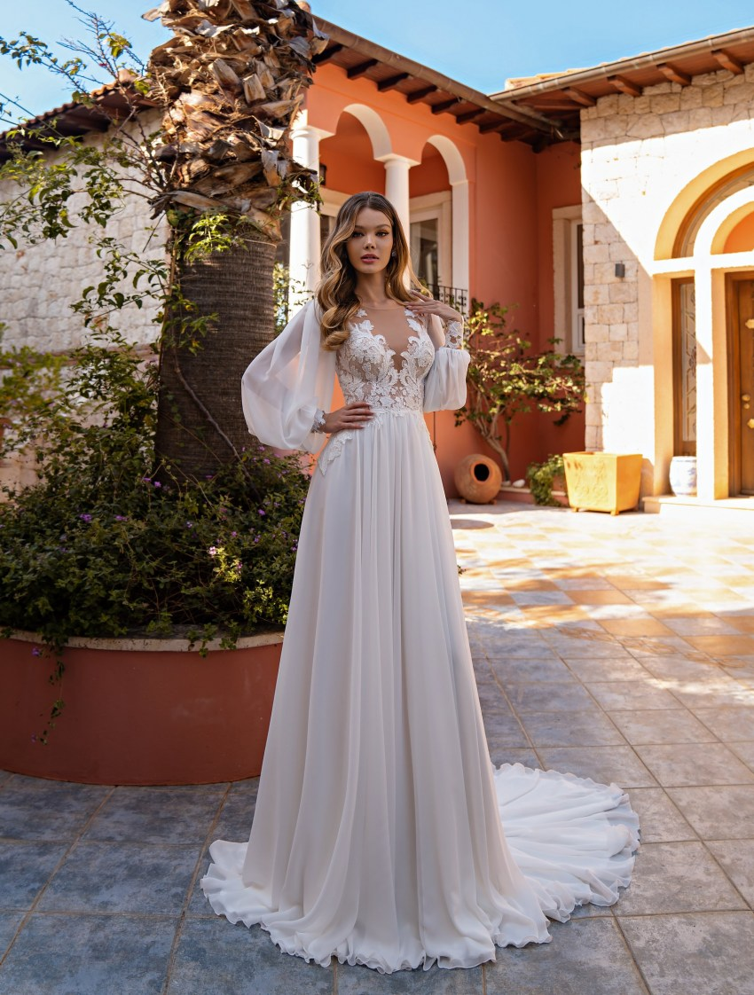 Wholesale wedding dress with long sleeves from Supernova-7