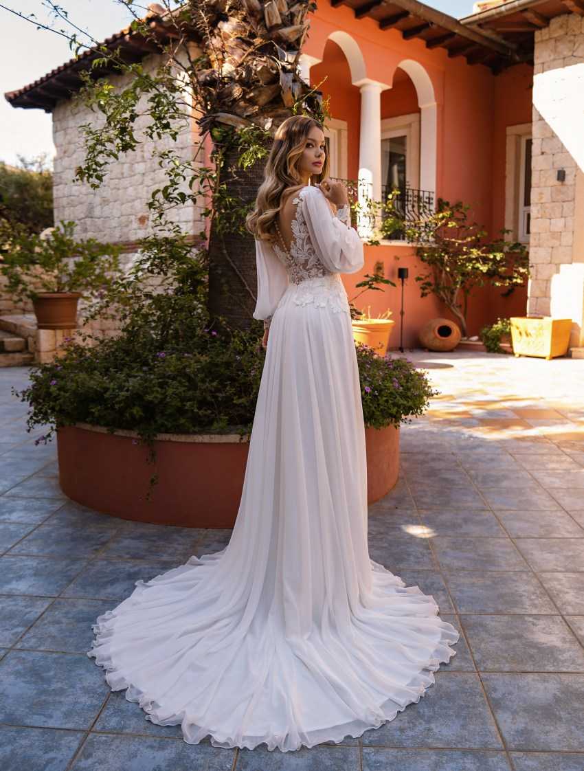 Wholesale wedding dress with long sleeves from Supernova-8