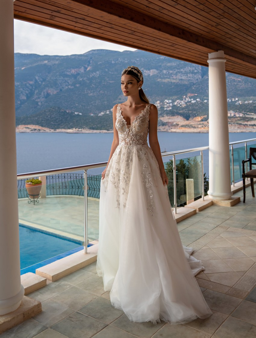 Wholesale strapless wedding dress from Supernova-6