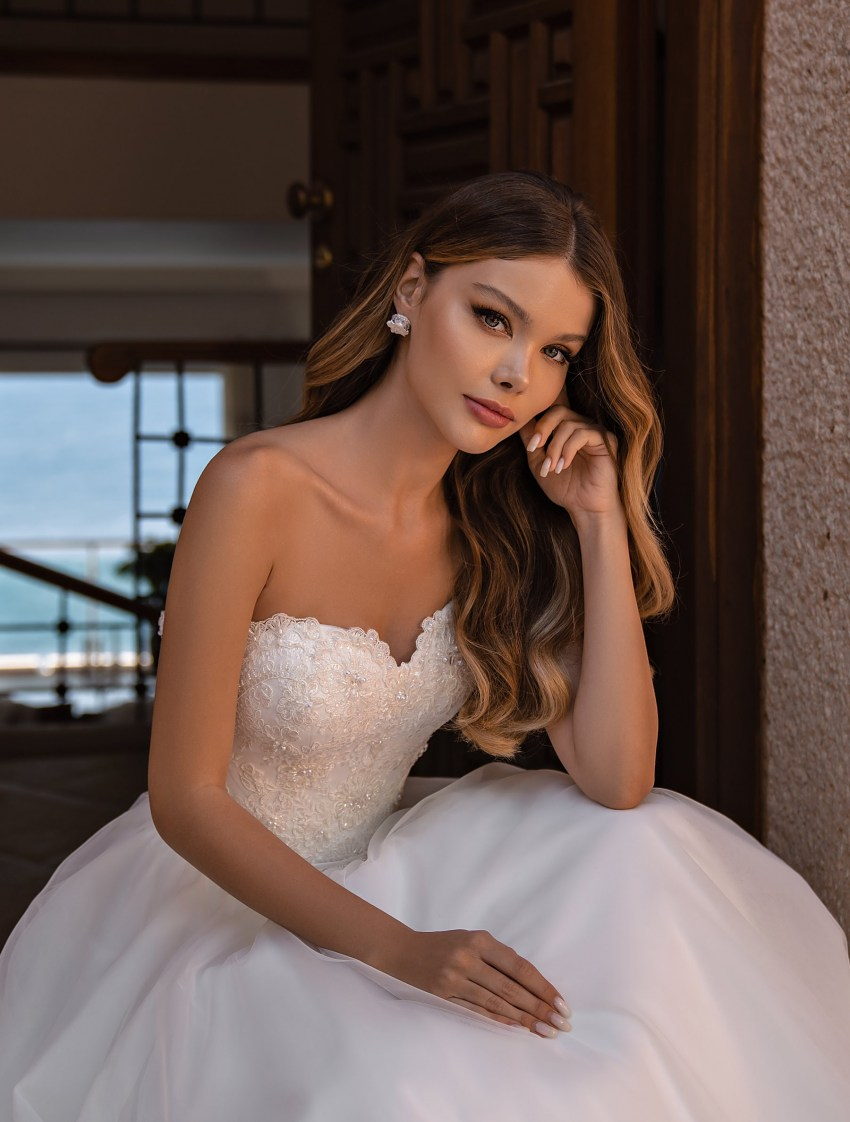 Off Shoulder Wedding Dress by Supernova-8