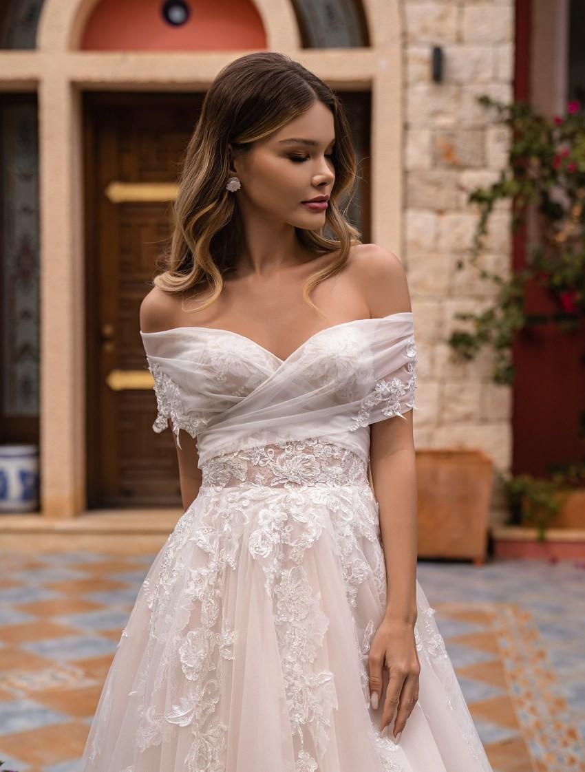 Off Shoulder Wedding Dress by Supernova-4