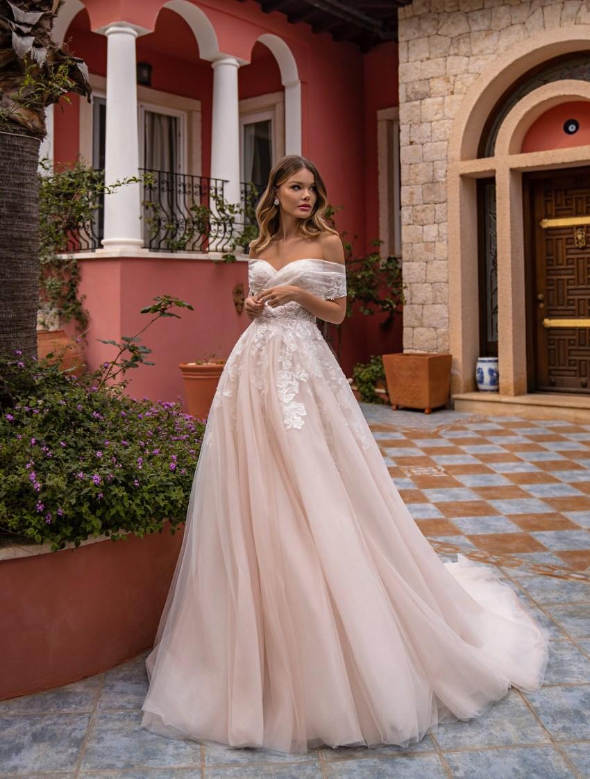 Off Shoulder Wedding Dress by Supernova-5