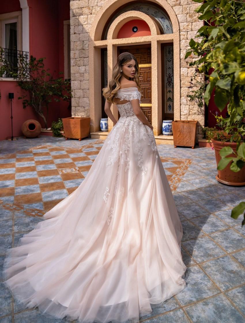 Off Shoulder Wedding Dress by Supernova-6