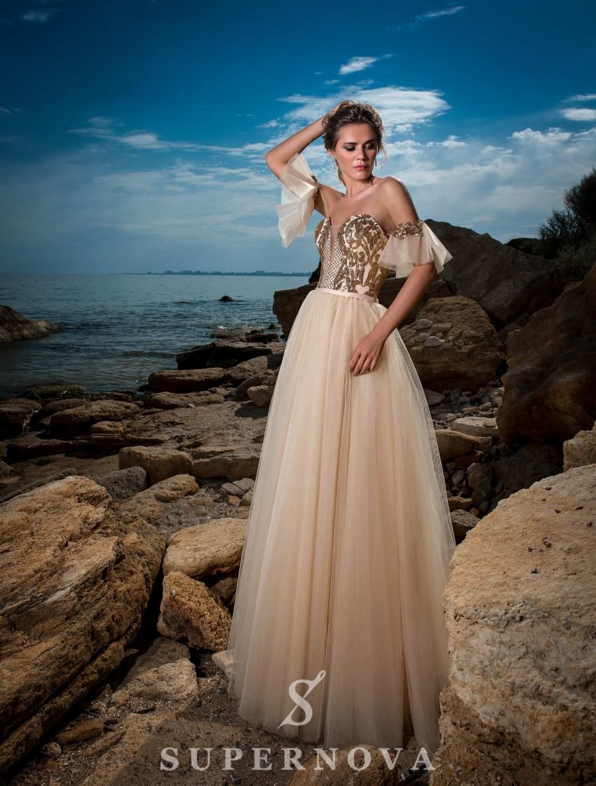 Rochie de seară cu fustă bufantă-2