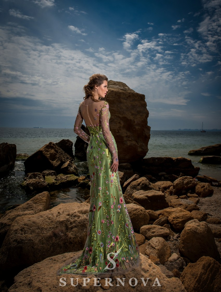 """Mermaid"" style evening dress-4"