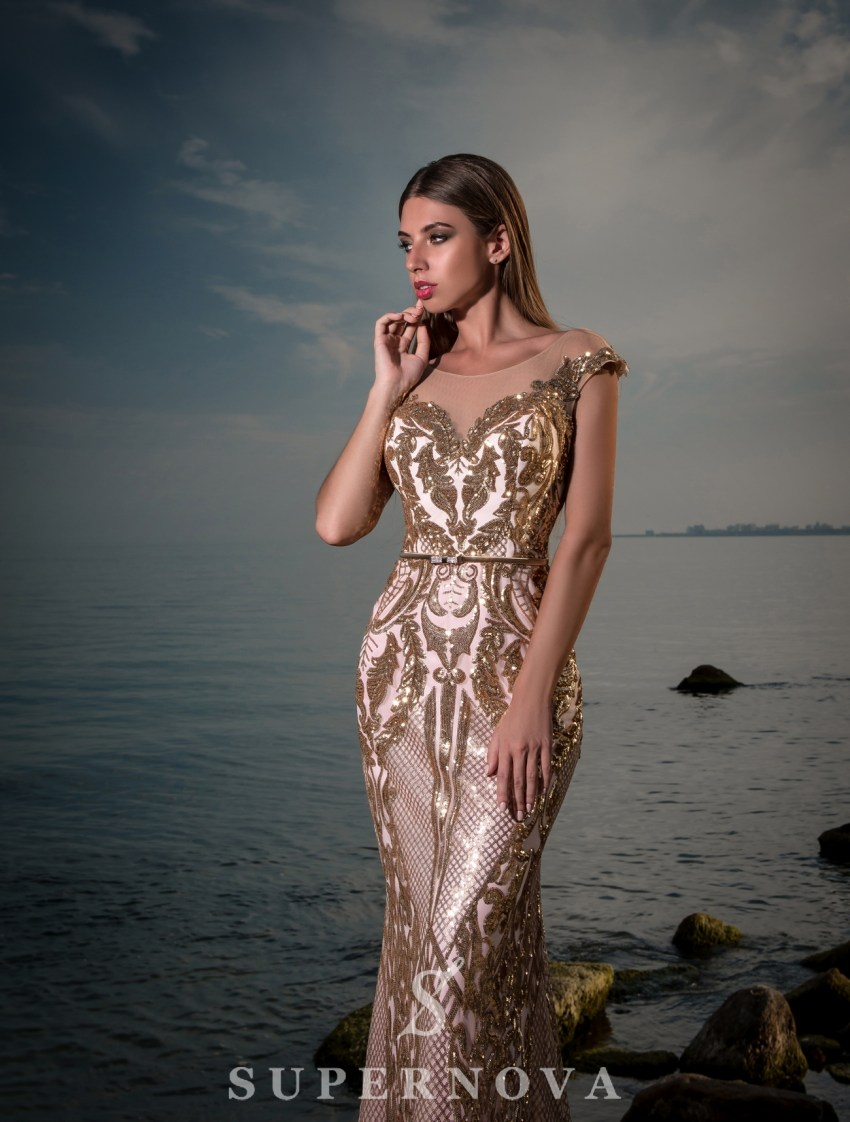 Evening dress with train-3