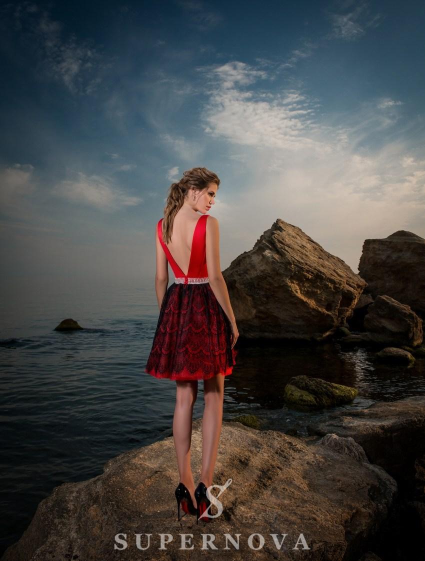 Вечернее короткое платье-4
