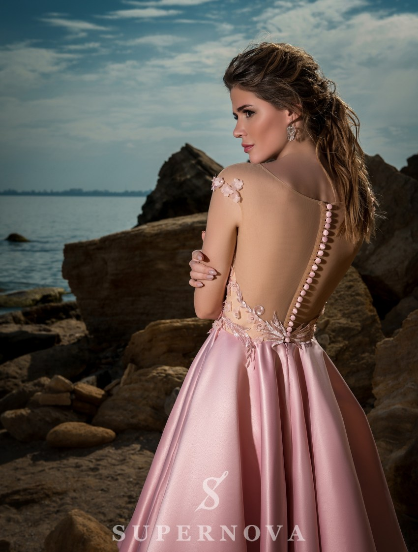 Evening dress with flared skirt-4