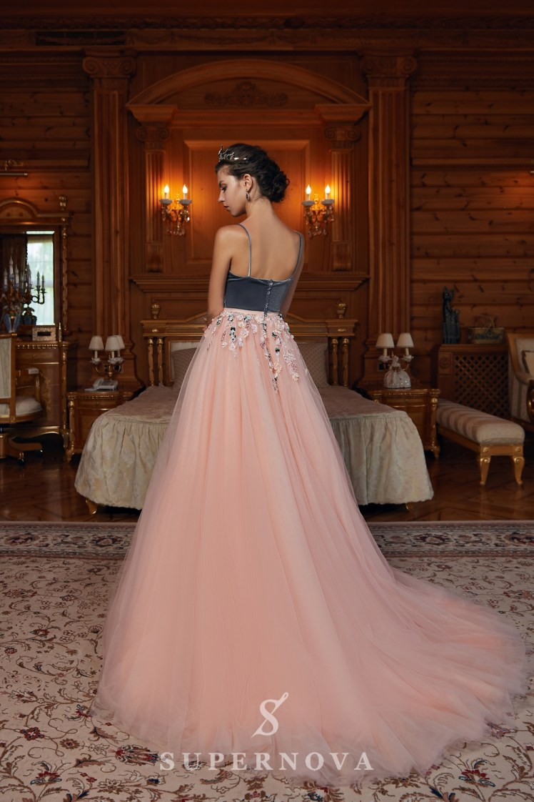Evening dress with velour corset and tulle skirt on wholesale  from Super Nova-4