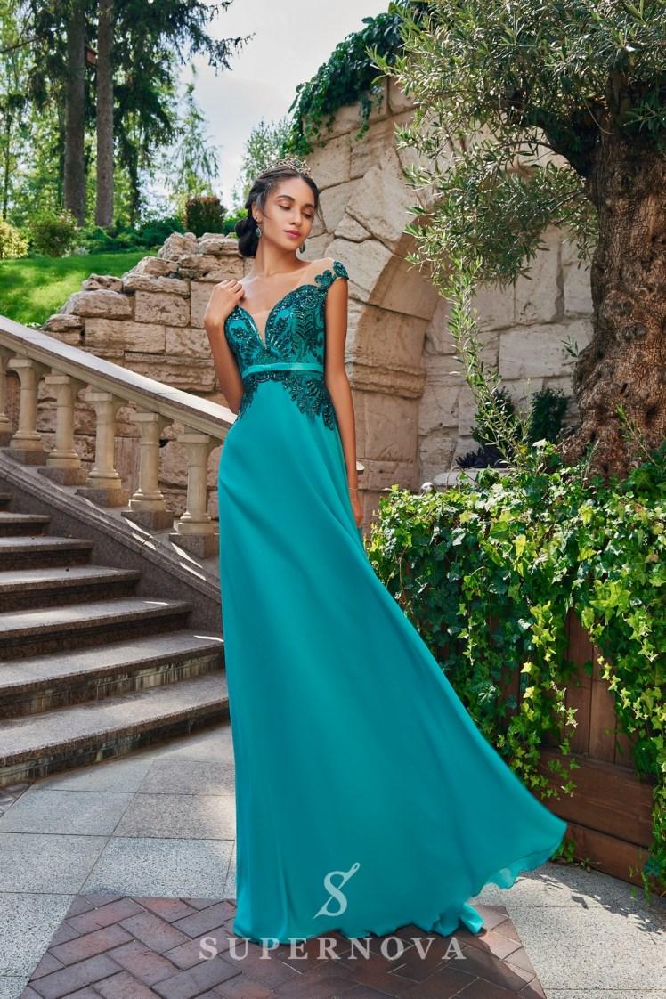 Вечернее платье с кружевным корсетом на кокетке от SuperNova.-2