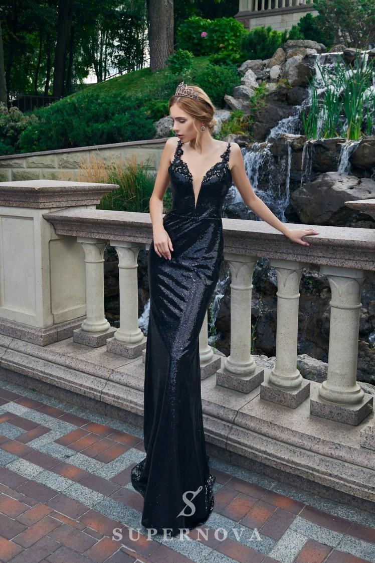 The sparkly evening dress of godet silhouette from Super Nova-2
