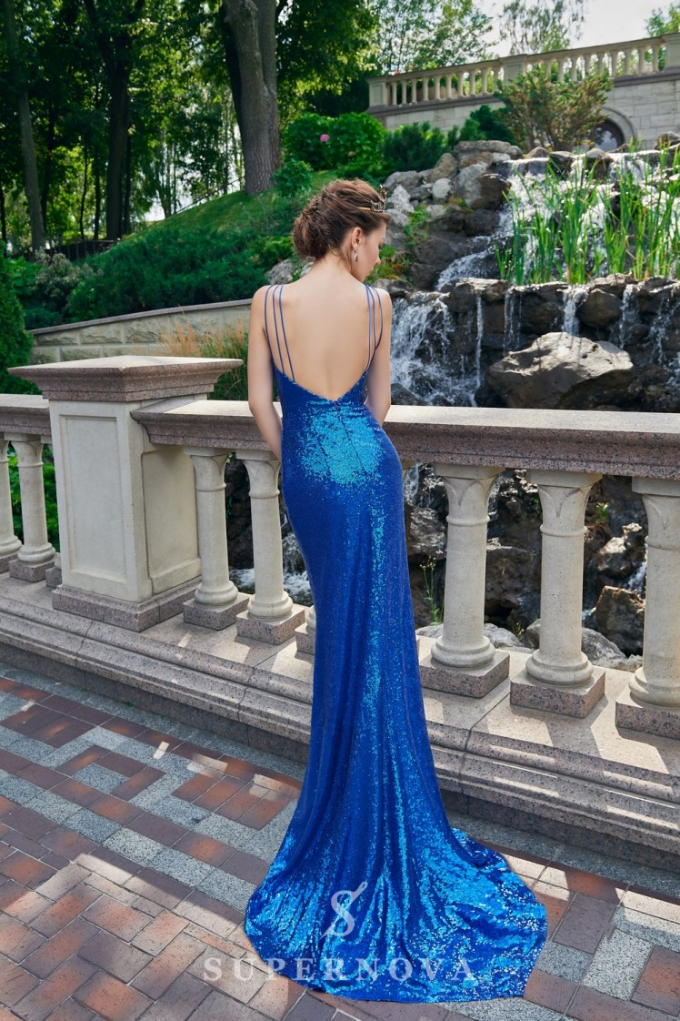 The sparkly evening dress of godet silhouette from Super Nova-4