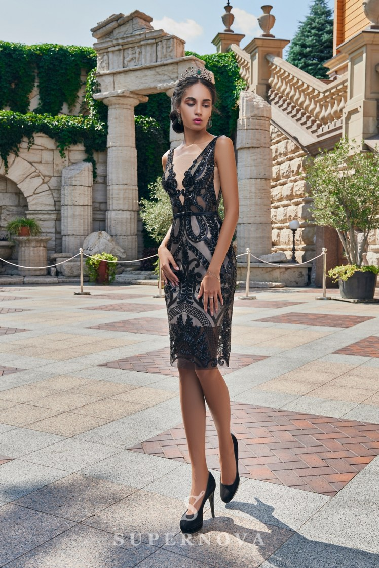 Short close-fitting evening dress on wholesale from the Super Nova brand-2