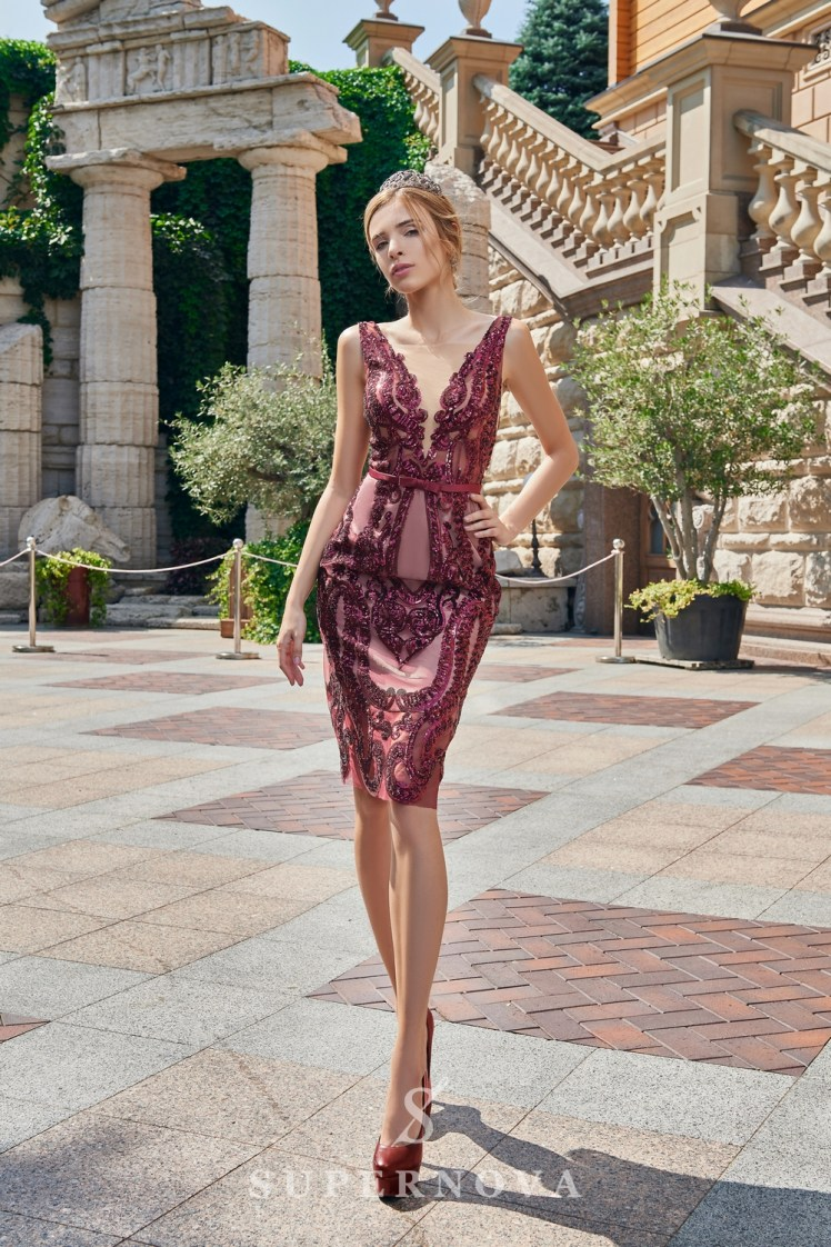Short close-fitting evening dress on wholesale from the Super Nova brand-3