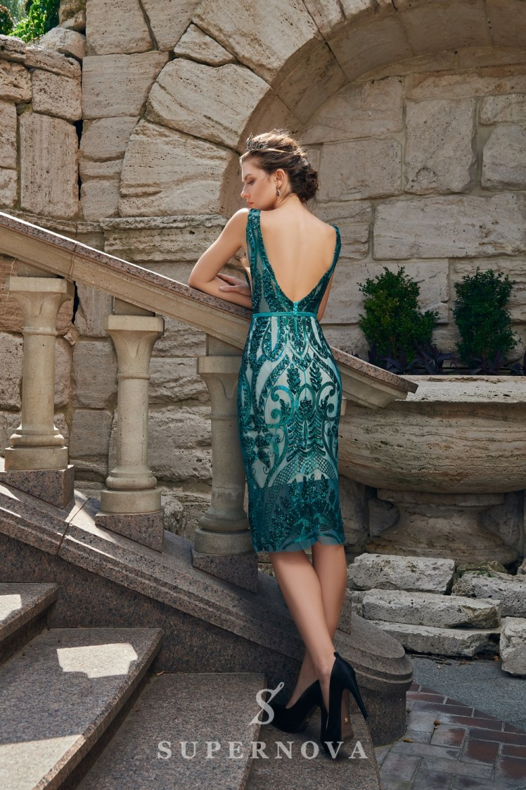 Short close-fitting evening dress on wholesale from the Super Nova brand-4