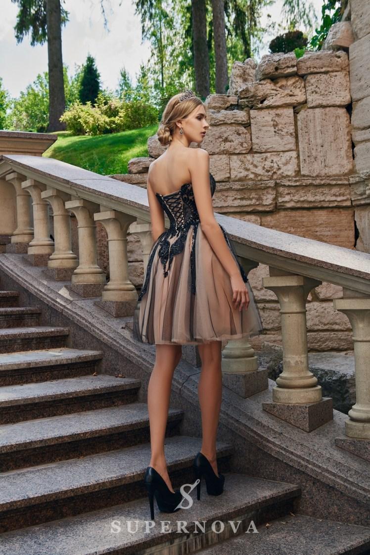 Пышное короткое вечернее платье оптом от SuperNova.-4
