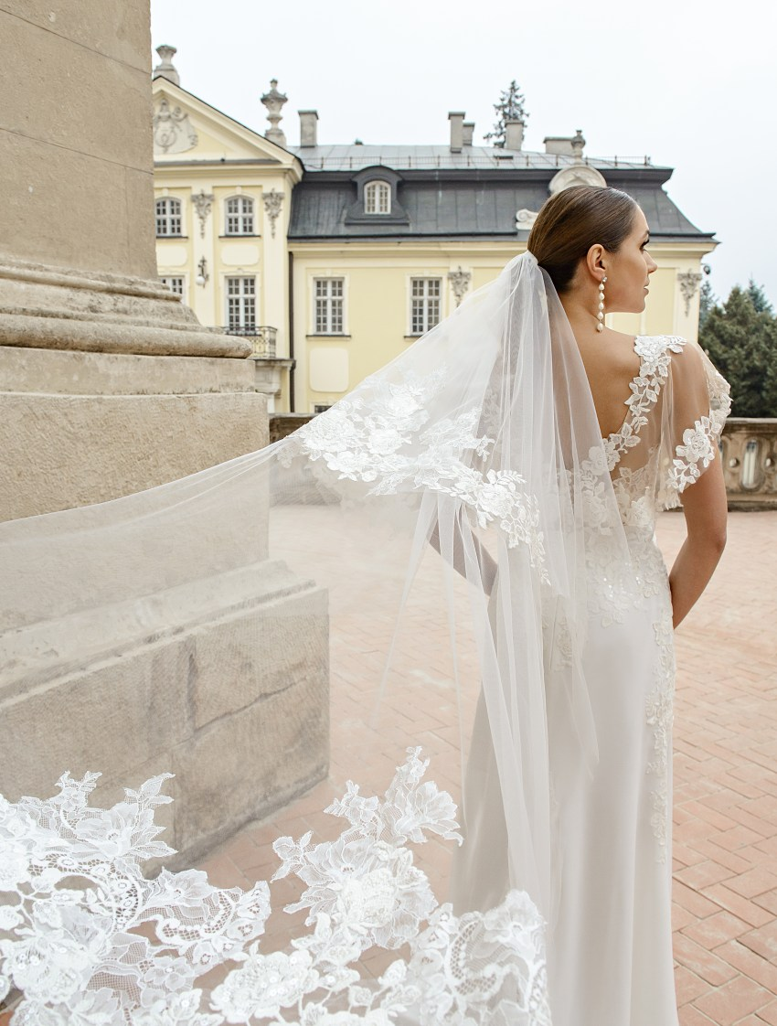 Свадебная фата с «отворотом» оптом от производителя Super Nova-2