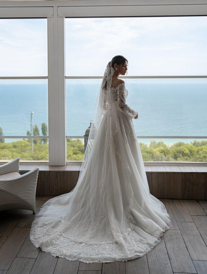 Свадебное платье с длинным рукавом оптом от Supernova-10