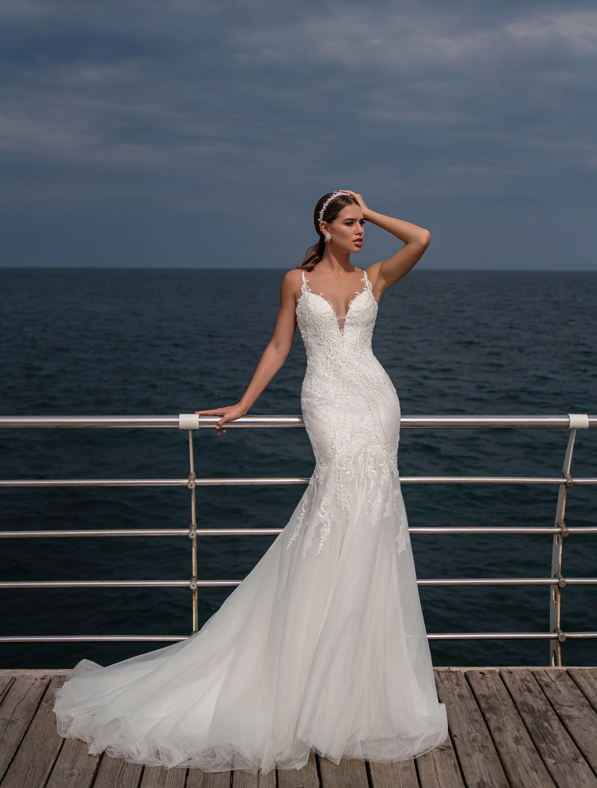 Wedding dress on a thin straps from Supernova-4
