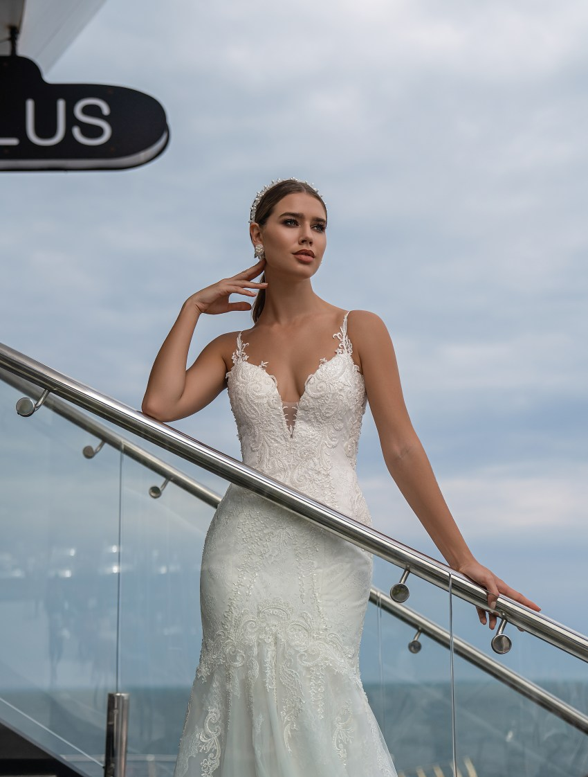 Wedding dress on a thin straps from Supernova-6