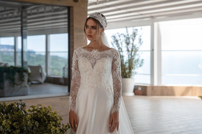 Wedding dress with long sleeves from Supernova-6