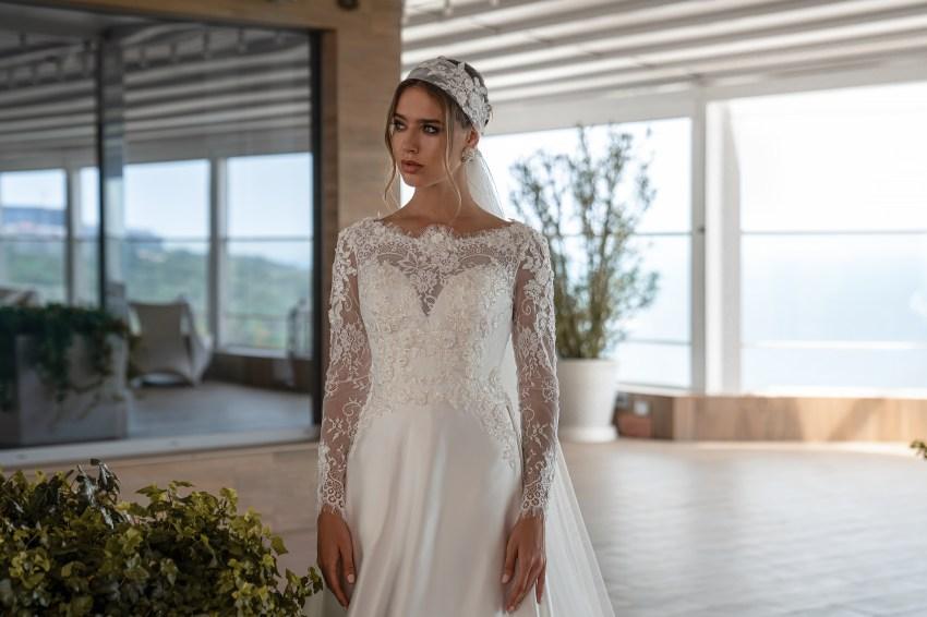 Весільна сукня з довгими рукавами оптом від Supernova-6