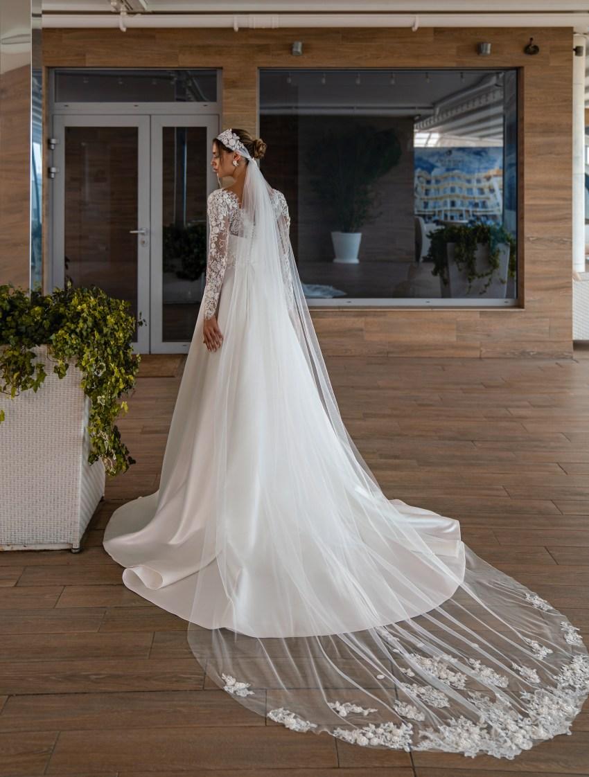 Весільна сукня з довгими рукавами оптом від Supernova-9