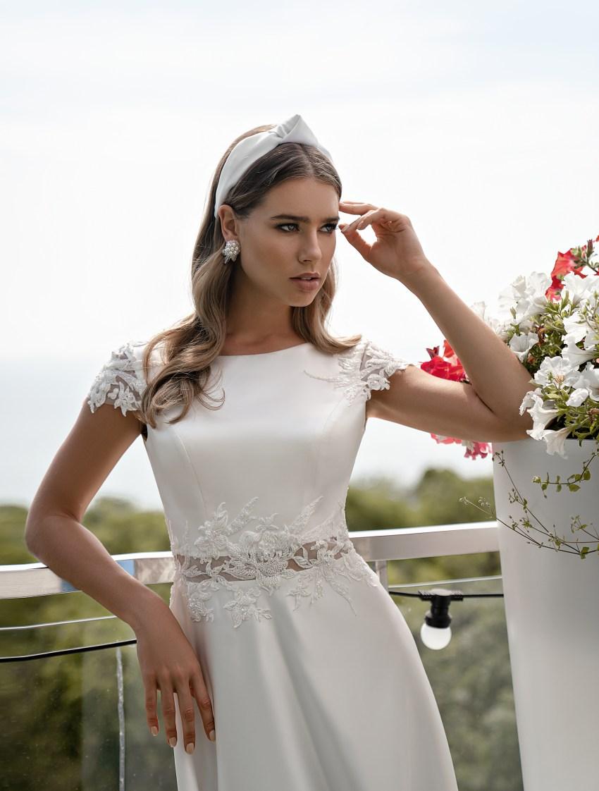 Свадебное платье с короткими рукавами оптом от Supernova-5