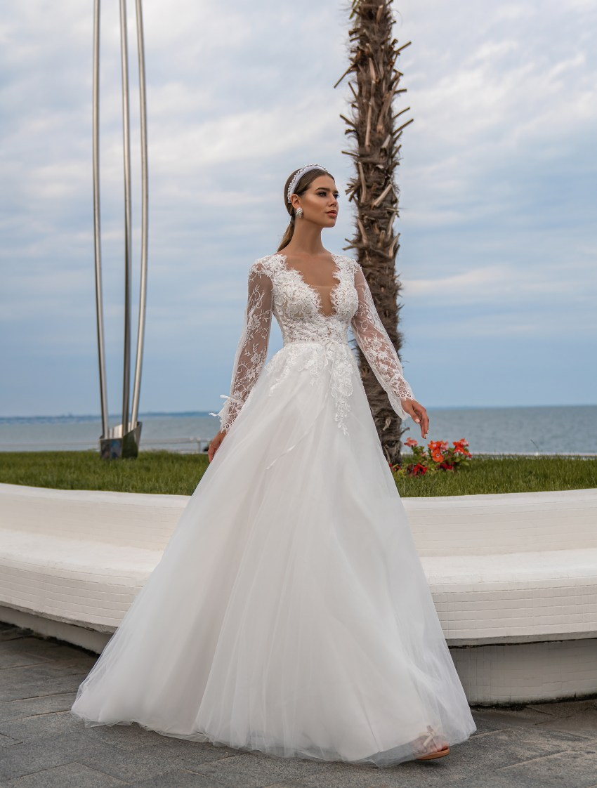 Wedding dress with long sleeves wholesale from Supernova-5