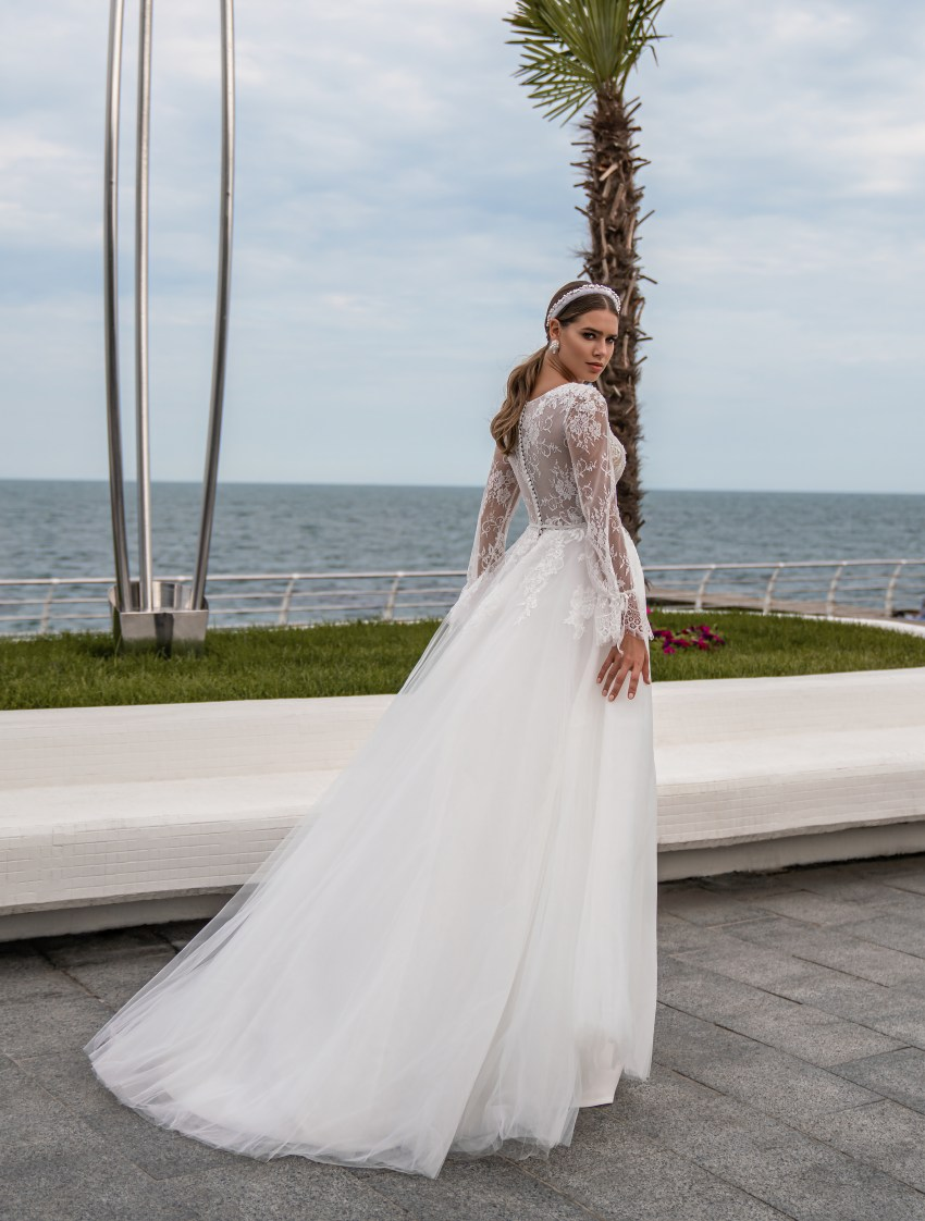 Wedding dress with long sleeves wholesale from Supernova-6