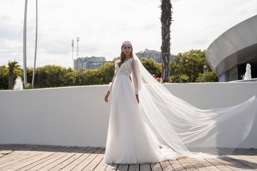 Wedding dress in boho style from Supernova-5